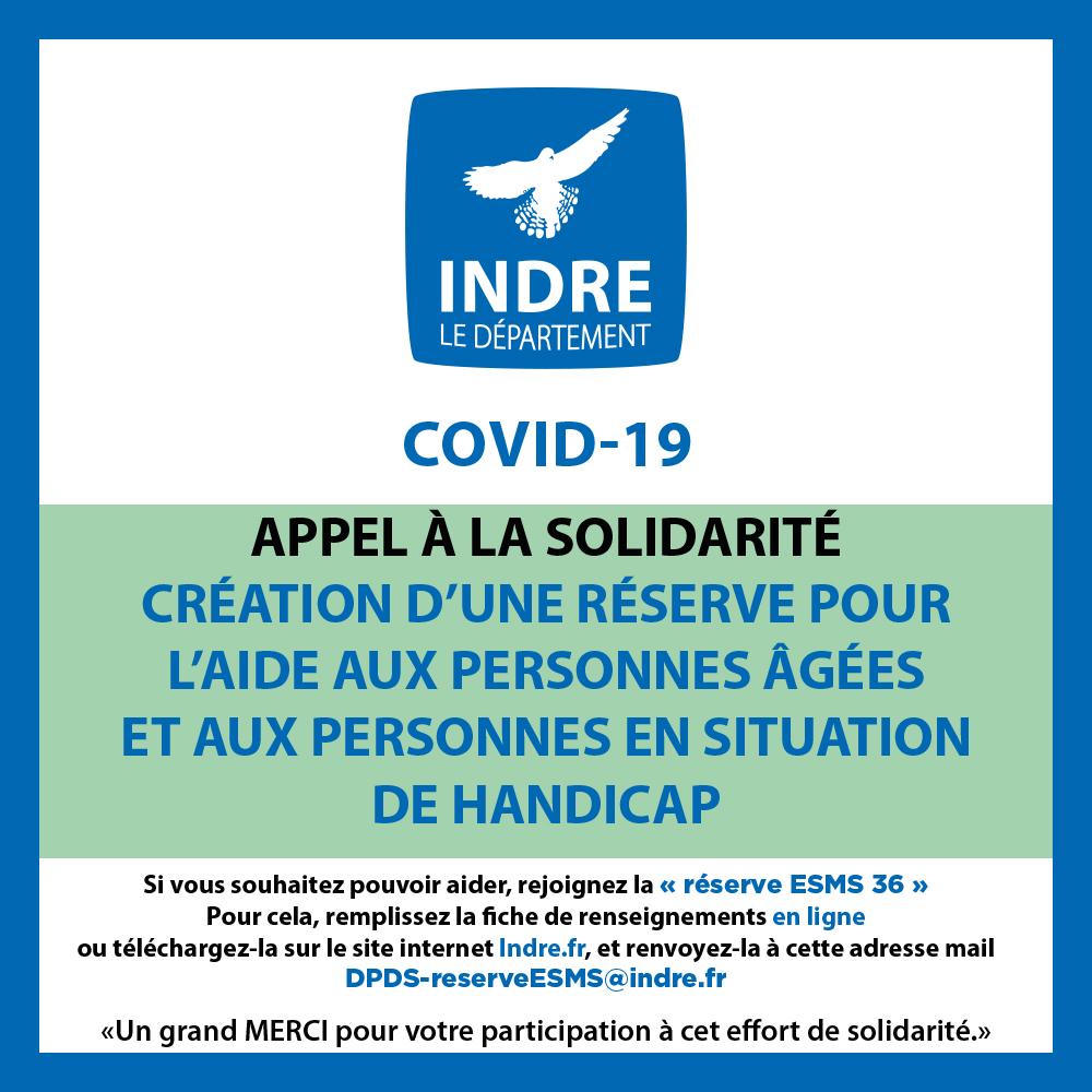 Appel à solidarité : réserve Etablissements Sociaux et Médicaux Sociaux